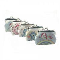 Wholesale cute pu purses for sale - Unicorn Pattern hasp Coin Purse Mini print Kids Womens PU Wallet Holders Party Home Cute Small Pocke clutch Bag AAA1706
