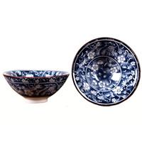 blaue weiße keramikzubehör großhandel-Jingdezhen Blaue und weiße Porzellan Tee Tasse 1 Stücke, Kung Fu Teetasse, Muster Keramik Teetassen im chinesischen Stil, Tee-Set Zubehör