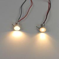 ingrosso luce da incasso da incasso 1w-1W Mini faretti a LED Downlight soffitto Piccola illuminazione ad incasso Vetrina Armadio da cucina Passo Scala Luce 12V dimmerabile Plafon Spot Lampada