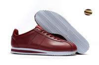 mejores precios bajos de zapatos al por mayor-2018 mejores nuevos zapatos de cortez para hombre zapatos casuales de mujer de bajo precio de cuero original cortez súper patrón de nubes zapatos casuales venta 36-45