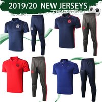 Wholesale yellow suit design for sale - Group buy 2020 Bayern Munich POLO Suits Red Soccer Jerseys Black Pants France Polo Centenary Kits Fitted Design Blue Football Uinform With Pants