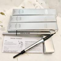 cosméticos de marca superior al por mayor-Marca de cosméticos para cejas polvo universal de color topo de color universal de cejas lápiz de doble cabeza lápiz de cejas calidad superior