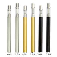Wholesale pvc pen resale online - Disposable Vape Pens Oil Cartridges S C10C ML ML Ceramic Coil Vape Cartridges mAh Battery E cigarettes Vape PVC Tube Package Kits