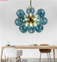 Wholesale suspension light bubbles for sale - Group buy Nordic Glass Bubbles Parlor Led Pendant Light Loft Deco Hotel Hall Bedroom Dining Room Suspension Lamp