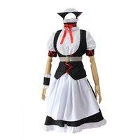 черная девичья одежда оптовых-Steins Gate 0 Faris Nyannyan Косплей Костюмы женская одежда для горничной Белая черная блузка Юбка на Хэллоуин