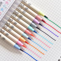 Wholesale watercolor brush pen for sale - Group buy Highlight School Students Color Watercolor Pen Soft Head Brush Set Children With Comic Pen