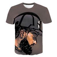 ingrosso lampeggiante musica tshirt-American Rapper 3D Tshirts Uomo Donna Estate Nipsey Hussle Casual T-shirt a maniche corte