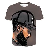 xl tişörtler toptan satış-Amerikan Rapçi 3D Tişörtleri Erkek Kadın Yaz Nipsey Hussle Casual Tees Kısa Kollu Tops