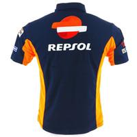 ingrosso arancione tees di golf-T-shirt polo cotone Repsol Moto stagione MotoGP Racing Team 2018 Stagione T-shirt da ciclismo sportiva da ciclismo arancione / blu S