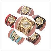 браслеты для батареек оптовых-Новые женские обернутые браслет с пряжкой часы сплетенные змея кварцевые батареи аналоговые часы подарок на день святого валентина день мамы