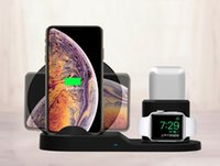 Wholesale iphone watch sale for sale - Group buy 3 In1 Wireless Charger Dock holder For Iphone XS Max XR Apple Watch Airpods Wireless Pad w hot sale