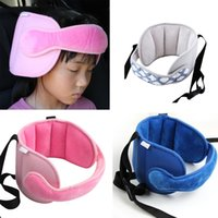 Wholesale baby travel seat belt for sale - Group buy Baby Head Fixing Belt Child Safety Seat Sleep Auxiliary Belt Head Of Vehicle Travel Artifact Headrest Pillow