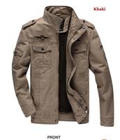 ingrosso lavaggio cotone giacca-High Street mens giacche invernali design primavera e l'autunno lavato Jacket Cotton Aeronautica militare di alta qualità Outwear Cuoio caldo