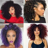 Wholesale ombre hair for braiding for sale - Group buy 8 Inch Short Marlybob Crochet Hair Bundles Kinky Curly Crochet Braids Ombre Braiding Hair Synthetic Hair Extension For Black Women