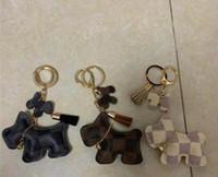 Wholesale car part for sale - Group buy Tassel Keyring PU Leather Pony Pattern Car Keychain Bag Charm Bag Parts