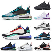 Wholesale shoes coral resale online - Designer React Men Running Shoes for Women BAUHAUS Sea Green OPTICAL Bright Violet Bleached Coral breathable women sports sneakers