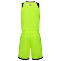 яблочный баскетбол оптовых-2019 новые пустые трикотажные изделия баскетбола напечатаны логотип мужские размер S-XXL дешевая цена быстрая доставка хорошее качество Apple Green AG004