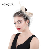 Wholesale floral veil bridal resale online - 2018 New Style multicolors Veils Bridal Fascinator beauty Bow Women hair Accessories Wedding Party Floral hat with Hair clips