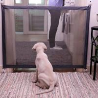 puertas de cercas al por mayor-Q190530 valla de protección portátil plegable perro de Seguridad de Productos de malla mágica puerta para mascotas para perros de seguridad Guardia bebé de los niños