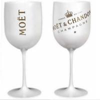 ingrosso bicchieri di vino rosa-Bicchiere da vino champagne in plastica elettrolitica Bianco, rosa ORO PS calice calice moet Coppa un pezzo