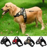 Wholesale big nylon dog collar for sale - Group buy Nylon Heavy Duty Dog Pet Harness Collar K9 Padded Extra Big Large Medium Small Dog Harnesses vest Husky Dogs Supplies