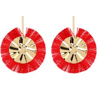 серьги заявление кисточкой оптовых-Handmade Bohemian Big Tassel Earrings for Women Lady Female Fringe Earring Brincos Fashion Statement Jewelry 2019 Dropshipping