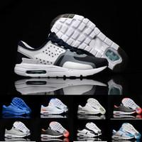 красные серые кроссовки оптовых-Nike Air Max Zero Essential 87 Оптовые модные здоровые спортивные состязания удобные пробежки на открытом воздухе Zero 2 поколения кроссовки мужчины и женщины черный белый красный серый