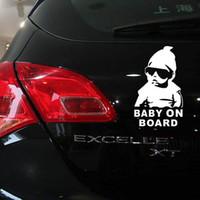 kişiselleştirilmiş yansıtıcı araba çıkartmaları toptan satış-10 ADET Küçük Boyutlu Araba Sticker Serin Bebek Gemide Araba Styling Motosiklet Sticker Vinil Çıkartması Yansıtıcı Kişiselleştirilmiş Su Geçirmez Ücretsiz nakliye