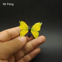kelebek oyunları toptan satış-Mini Boyutu Komik DIY Kelebek Modeli Mıknatıs Sticker Oyunları Çocuklar Için (Model Numarası I259)