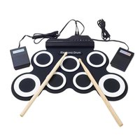 Wholesale external electronics resale online - Electronic Drum Set Electronic Drum Tone Demo Song Drum Pads Metronome Function External Instrument Input Ava