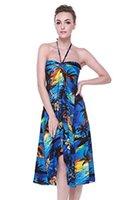 hawaii elbiseler kadınlar toptan satış-Hawaii Hangover Bayan Hawaii Kelebek Luau Elbise Sunset Blue