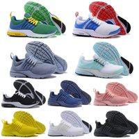 yeni ayakkabılar brazil toptan satış-2018 Yeni Presto Koşu Ayakkabıları BR QS Unholy Cumulus Brezilya Siyah Beyaz Pembe Sarı Kırmızı Mavi Erkekler Kadınlar Degigner Spor Ayakkabı Breathe