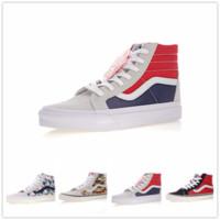 e683676063 2018 vans SK8-Hi Classic Old Skool White Black zapatillas de deporte Women  Men High-top Low Canvas Casual Skate Shoes E685189