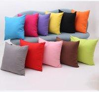 office decor color toptan satış-Minder Kapak 45x45 cm S Saf Renk Kare Yastık Kapak Ev Sandalye Kanepe Ofis Yatak Odası Dekor Için Modern 11 Stil Yastık Ücretsiz Nakliye