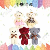 ingrosso ornamenti panda-8 stile nuovo simpatico orso appeso ornamenti peluche borsa ciondolo pezzo orso portachiavi bambola giocattoli per bambini giocattoli di peluche