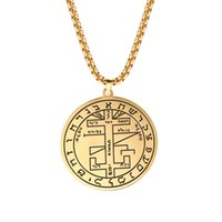 Wholesale long chain necklace for men for sale - Group buy Skyrim Vintage Brave Warrior Viking Runes Pendant Necklace Amulet Stainless Steel Gold Long Chain Necklaces Jewelry Gift for Men