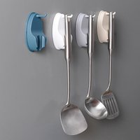 Wholesale rotating spoons for sale - Group buy Creative Kitchenware Rotating Hook Kitchen Cabinet Hook Paste Wall mounted Non wall Spatula Spoon Saves Space