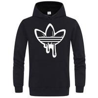 hoodies sweatshirt light toptan satış-Erkek Tasarımcı Markalı Hoodie Işık Polar Tişörtü Moda Baskılı Kapşonlu Kazaklar 6 Renkler Sokak Stil Erkek Spor