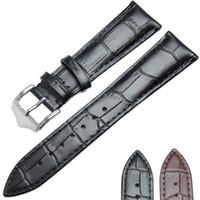 weiche lederarmbänder großhandel-Echtes Leder Weiche Durable Watchbands Uhren Armband 18mm 19mm 20mm 21mm 22mm 24mm Uhrenarmbandriemen Braun Schwarz
