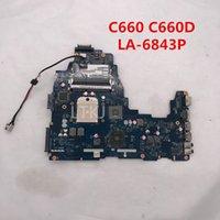 placa base zócalo s1 portátil al por mayor-Para Satellite C660 C660D A660 A665 madre del ordenador portátil DDR3 PWWAA LA-6843P K000111550 Socket S1 CPU 100% probó por completo
