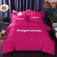 europas bettwäsche gesetzt luxus großhandel-Luxus Bettwäsche Marke Bettwäsche Set Designer übergroße Bettwäsche Set 4 Stück Set Seide Bettbezug Europäischen Sommer Frühling Bettwäsche Bettbezug