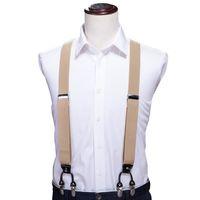 y подтяжки ремня оптовых-Привет-галстук Регулируемые эластичные лямки для взрослых подтяжки Y-образный клипсы мужские подтяжки 6 клипсы брюки подтяжки ForWomen ремни BH-1004
