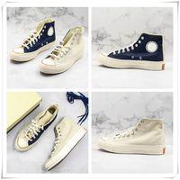 sapato masculino único venda por atacado-Nova Chegada Chunk 70 s Sapatos Altos Bege Azul Splice Botas de Lona Naturais Das Mulheres Dos Homens de Lona Sapatos de Skate Designer Designer Exclusivo Sapatilha