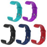klammern armbänder großhandel-ID 115Plus Armband Smart Fitness Armband Strap Tracker Farbdisplay Blutdruck Pulsmesser Damenuhr für Smart 115Plus Brace