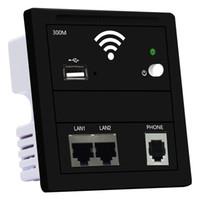 ingrosso pannelli a doppia parete-Pannello 86 Tipo 2019 Nuovo 300M Eu-standard di punto di accesso wireless a muro con Dual LAN RJ45 USB e RJ11 porte telefoniche router Inn Hotel WIFI