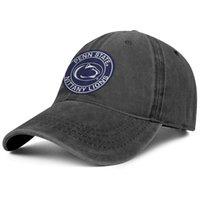 ingrosso gli stati della sfera-Logo Penn State Nittany Lions Round nero Uomo Donna Denim Hat lava cappello a sfera per creare il tuo classico cappello da papà all'aperto