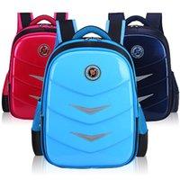 sacolas impermeáveis para escola secundária venda por atacado-Alta Qualidade Venda de Mochilas Novo Saco de Escola Primária PU Mochila Criança À Prova D 'Água À Prova D' Água de Perda de Peso das Crianças Mochila