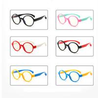 meninos óculos azul venda por atacado-Crianças anti-óculos de luz azul criança anti-uv óculos de proteção de radiação óculos de armação flexível óculos de menina menino crianças óculos ljjw157