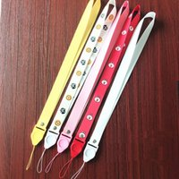 Wholesale cell phone hanging cartoons for sale - Group buy Mobile phone lanyard custom two in one creative badge badges hanging neck new cartoon lanyard wide weave Cell Phone Straps