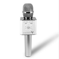 mikrofon karaoke android toptan satış-Güzel hediye Sihirli Q9 Bluetooth Kablosuz Mikrofon El Mikrofonu Mic Hoparlör Ile Hoparlör K Hoparlör Karaoke Q7 Android telefon Için Yükseltme